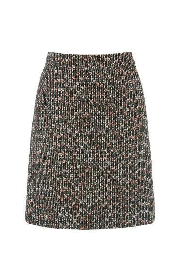 Sparkle Tweed Pelmet Skirt - style: straight; pattern: herringbone/tweed; waist: mid/regular rise; secondary colour: pink; predominant colour: black; occasions: casual; length: just above the knee; fibres: polyester/polyamide - mix; fit: straight cut; pattern type: fabric; texture group: tweed - light/midweight; pattern size: big & busy (bottom); multicoloured: multicoloured; season: a/w 2016; wardrobe: highlight