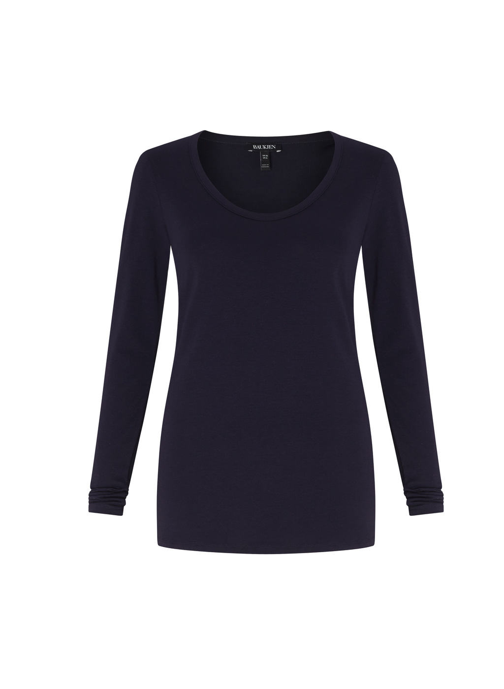 Womenswear Whitson Lounge Top - neckline: round neck; pattern: plain; style: t-shirt; predominant colour: navy; occasions: casual; length: standard; fibres: cotton - stretch; fit: body skimming; sleeve length: long sleeve; sleeve style: standard; texture group: jersey - clingy; pattern type: fabric; wardrobe: basic; season: a/w 2016