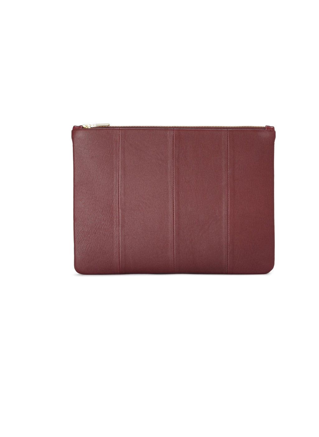 Womenswear Mercia Clutch Bag - predominant colour: burgundy; occasions: evening; type of pattern: standard; style: clutch; length: hand carry; size: standard; material: leather; pattern: plain; finish: plain; season: a/w 2016