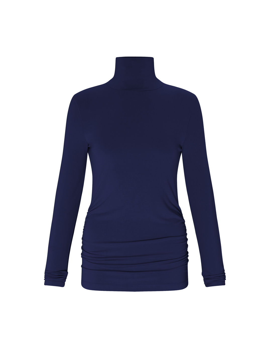 Womenswear Turtleneck - pattern: plain; neckline: roll neck; predominant colour: navy; occasions: casual; length: standard; style: top; fibres: viscose/rayon - stretch; fit: tight; sleeve length: long sleeve; sleeve style: standard; texture group: jersey - clingy; pattern type: fabric; wardrobe: basic; season: a/w 2016