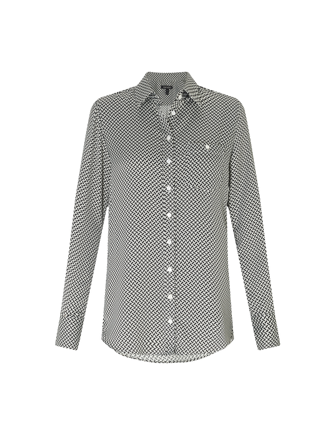 Womenswear Sillwood Relaxed Shirt - neckline: shirt collar/peter pan/zip with opening; style: shirt; secondary colour: white; predominant colour: black; occasions: casual; length: standard; fibres: polyester/polyamide - 100%; fit: body skimming; sleeve length: long sleeve; sleeve style: standard; pattern type: fabric; pattern: patterned/print; texture group: woven light midweight; multicoloured: multicoloured; season: a/w 2016; wardrobe: highlight