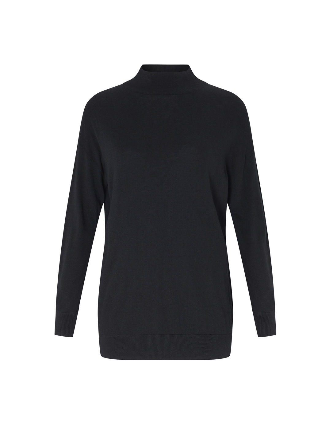 Womenswear Johnson Turtleneck Knit - pattern: plain; neckline: roll neck; style: standard; predominant colour: black; occasions: casual; length: standard; fibres: wool - 100%; fit: slim fit; sleeve length: long sleeve; sleeve style: standard; texture group: knits/crochet; pattern type: knitted - other; wardrobe: basic; season: a/w 2016