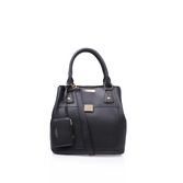 Lily Bucket Bag - predominant colour: black; occasions: casual; type of pattern: standard; style: tote; length: shoulder (tucks under arm); size: standard; material: leather; pattern: plain; finish: plain; wardrobe: investment; season: a/w 2016