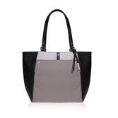 Pockets A Plenty Tote Lg - predominant colour: mid grey; occasions: casual; type of pattern: standard; style: tote; length: shoulder (tucks under arm); size: standard; material: leather; finish: plain; pattern: colourblock; season: a/w 2016; wardrobe: highlight