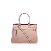 Nicole Zip Front Bag - predominant colour: pink; occasions: casual; type of pattern: standard; style: tote; length: shoulder (tucks under arm); size: standard; material: leather; pattern: plain; finish: plain; season: a/w 2016; wardrobe: highlight