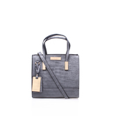 Julia Croc Tote - predominant colour: black; occasions: casual; type of pattern: light; style: tote; length: shoulder (tucks under arm); size: standard; material: leather; pattern: plain; finish: plain; wardrobe: investment; season: a/w 2016
