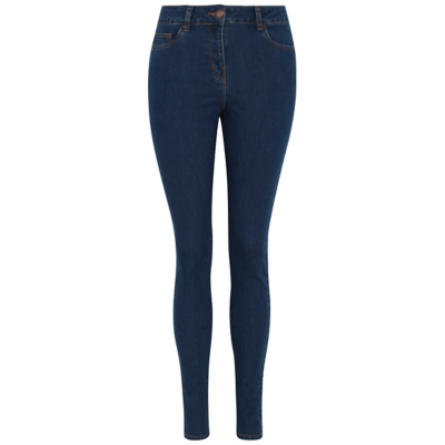 Skinny Fit Jeans Dark Denim - style: skinny leg; length: standard; pattern: plain; pocket detail: traditional 5 pocket; waist: mid/regular rise; predominant colour: navy; occasions: casual; fibres: cotton - stretch; texture group: denim; pattern type: fabric; wardrobe: basic; season: a/w 2016