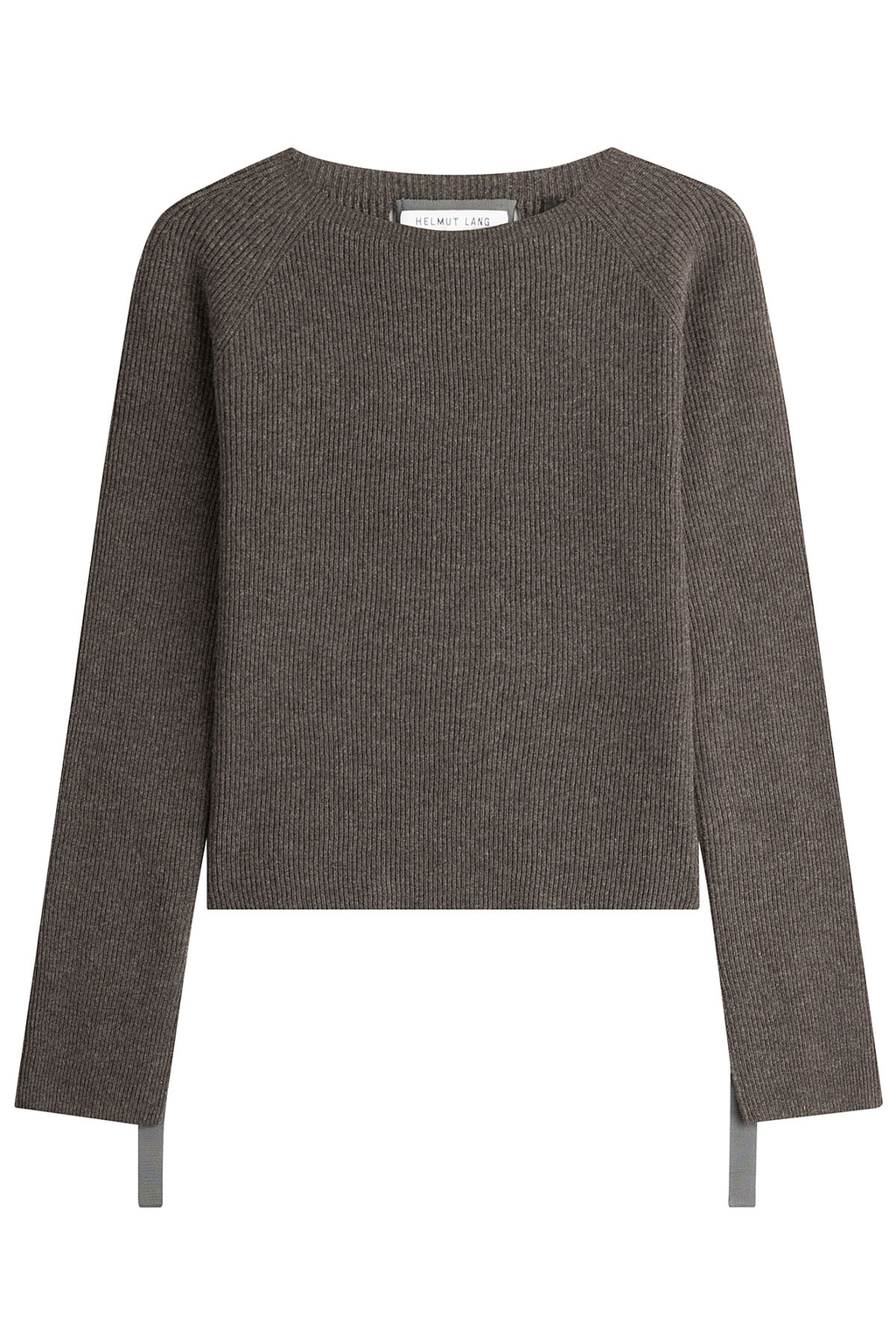 Wool Pullover With Cashmere - pattern: plain; style: standard; predominant colour: charcoal; occasions: casual; length: standard; fibres: wool - mix; fit: standard fit; neckline: crew; sleeve length: long sleeve; sleeve style: standard; texture group: knits/crochet; pattern type: fabric; wardrobe: basic; season: a/w 2016