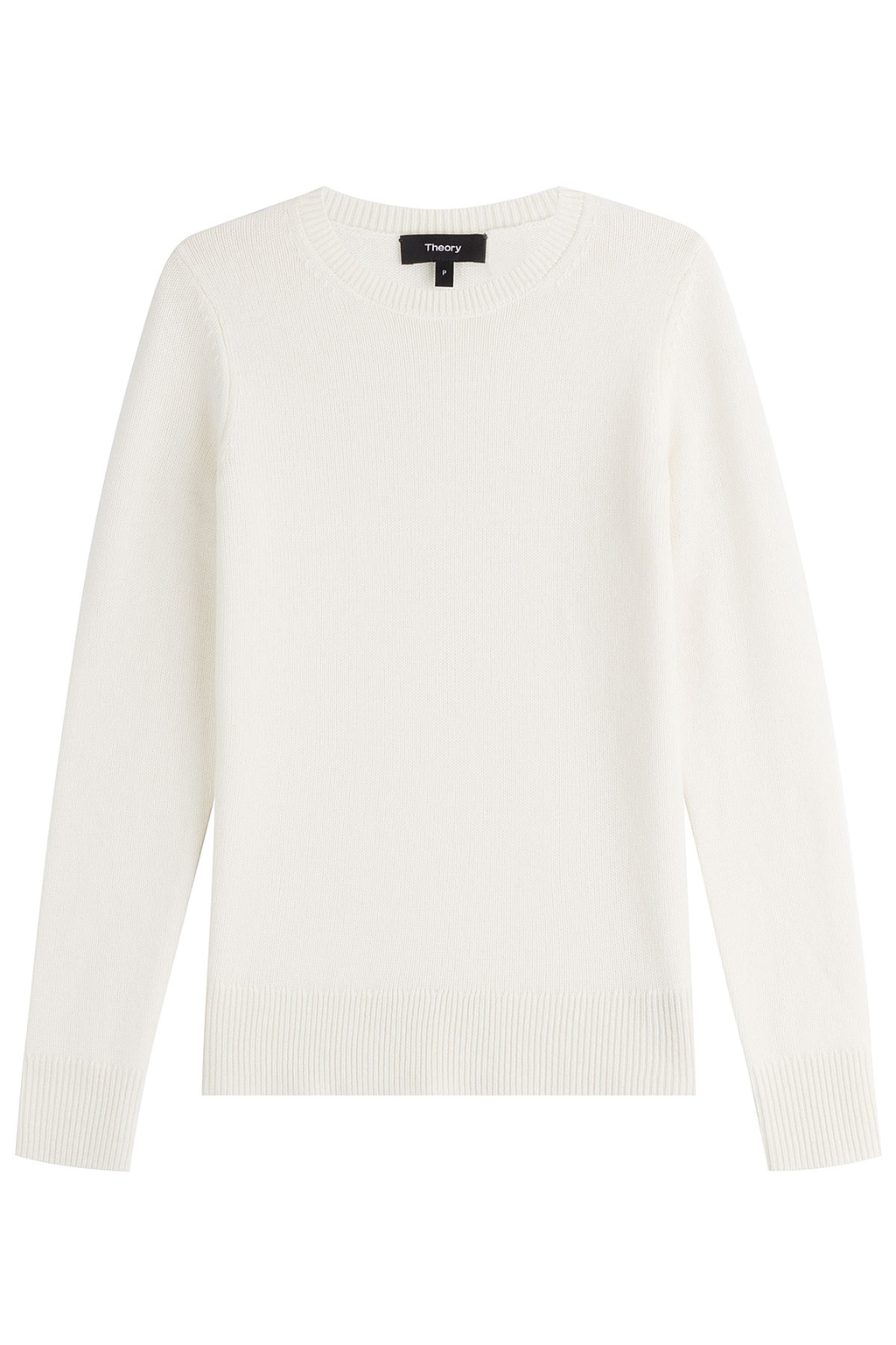 Cashmere Pullover - pattern: plain; style: standard; predominant colour: white; occasions: casual; length: standard; fit: slim fit; neckline: crew; fibres: cashmere - 100%; sleeve length: long sleeve; sleeve style: standard; texture group: knits/crochet; pattern type: knitted - other; wardrobe: investment; season: a/w 2016