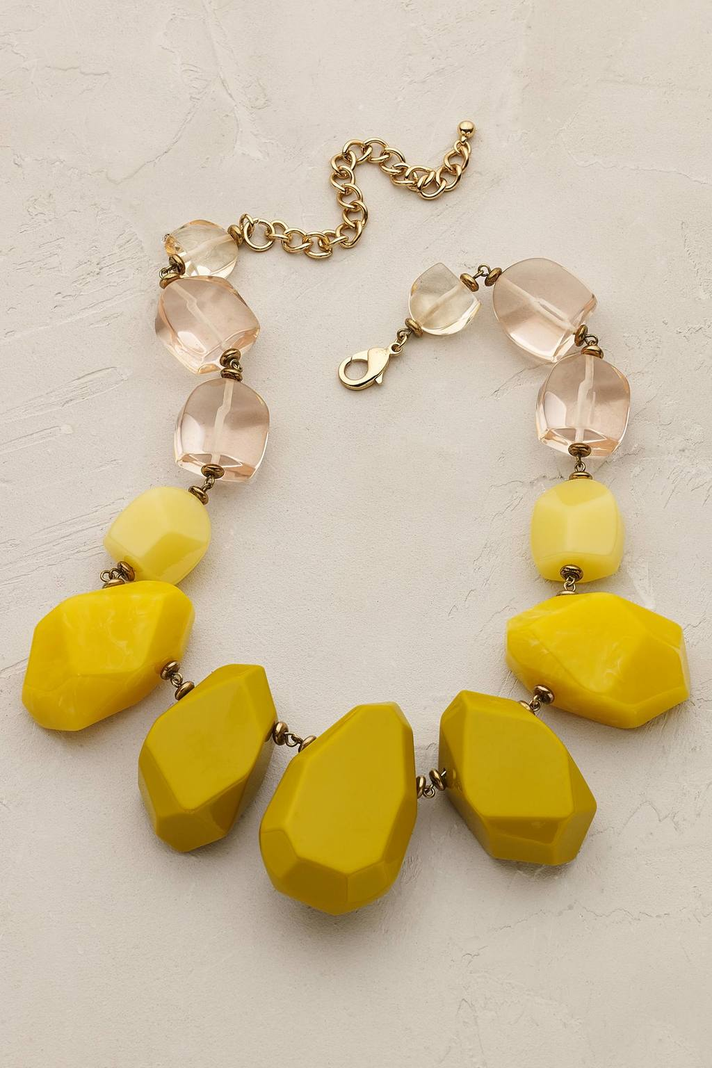 Novara Beaded Necklace - secondary colour: ivory/cream; predominant colour: yellow; occasions: casual; length: mid; size: large/oversized; material: chain/metal; finish: plain; embellishment: beading; multicoloured: multicoloured; style: bead; season: a/w 2016; wardrobe: highlight