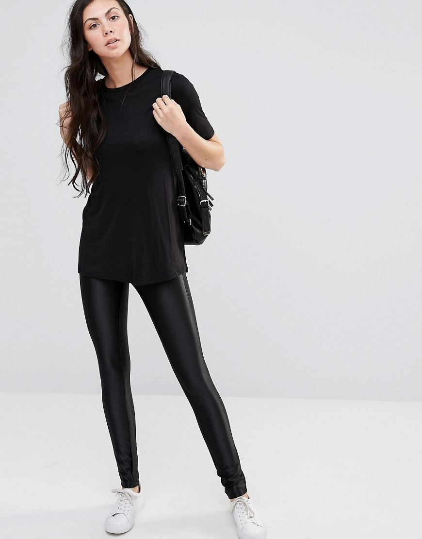 Vilma Trousers Black - length: standard; pattern: plain; style: leggings; waist detail: elasticated waist; waist: mid/regular rise; predominant colour: black; occasions: casual; fibres: polyester/polyamide - stretch; fit: skinny/tight leg; pattern type: fabric; texture group: other - clingy; wardrobe: basic; season: a/w 2016