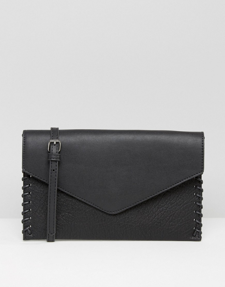 Cross Body Bag Black - predominant colour: black; occasions: casual, creative work; type of pattern: standard; style: messenger; length: across body/long; size: standard; material: faux leather; pattern: plain; finish: plain; season: a/w 2016