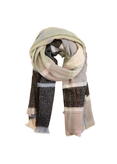 Check Scarf - predominant colour: stone; occasions: casual, creative work; type of pattern: standard; style: regular; size: large; material: knits; pattern: checked/gingham; multicoloured: multicoloured; season: a/w 2016
