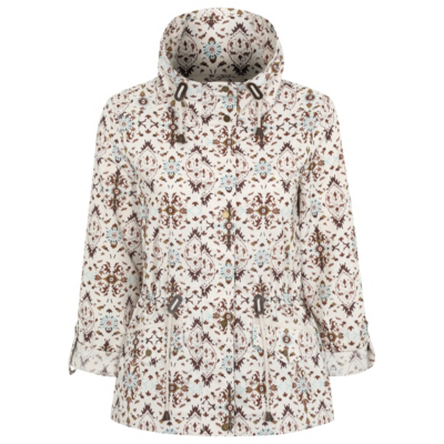 Printed Parka Multi - length: standard; collar: funnel; fit: loose; style: parka; predominant colour: ivory/cream; secondary colour: tan; occasions: casual; fibres: cotton - mix; sleeve length: long sleeve; sleeve style: standard; texture group: technical outdoor fabrics; collar break: high; pattern type: fabric; pattern: patterned/print; multicoloured: multicoloured; season: a/w 2016; wardrobe: highlight