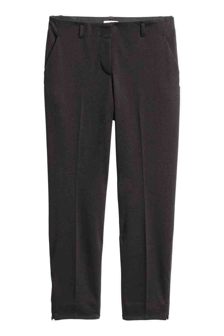 + Cigarette Trousers - pattern: plain; waist: mid/regular rise; predominant colour: black; occasions: work; length: ankle length; fibres: cotton - 100%; texture group: cotton feel fabrics; fit: slim leg; pattern type: fabric; style: standard; wardrobe: basic; season: a/w 2016