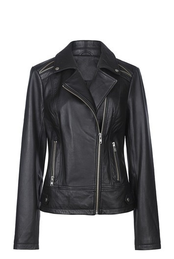 Tall Leather Biker Jacket At - pattern: plain; style: biker; collar: asymmetric biker; fit: slim fit; predominant colour: black; occasions: casual; length: standard; fibres: leather - 100%; sleeve length: long sleeve; sleeve style: standard; texture group: leather; collar break: medium; pattern type: fabric; wardrobe: basic; season: a/w 2016