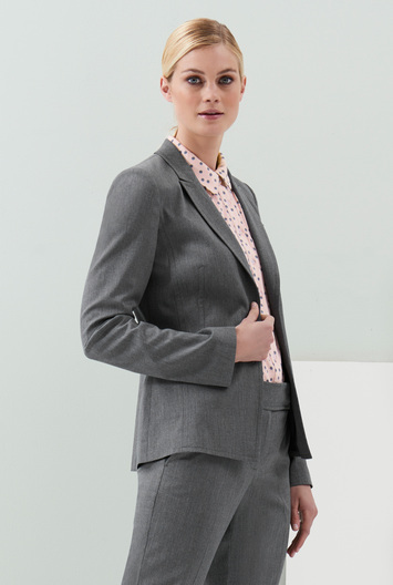 Tall Dotted Stripe Suit Jacket At - pattern: plain; style: single breasted blazer; collar: standard lapel/rever collar; predominant colour: charcoal; occasions: work; length: standard; fit: tailored/fitted; fibres: polyester/polyamide - 100%; sleeve length: long sleeve; sleeve style: standard; collar break: medium; pattern type: fabric; texture group: woven light midweight; season: a/w 2016