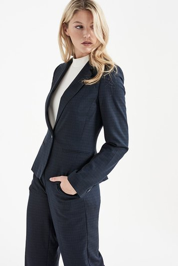 Tall Flecked Navy Suit Jacket At - pattern: plain; style: single breasted blazer; collar: standard lapel/rever collar; predominant colour: navy; occasions: work; length: standard; fit: tailored/fitted; fibres: wool - mix; sleeve length: long sleeve; sleeve style: standard; collar break: medium; pattern type: fabric; texture group: woven light midweight; wardrobe: investment; season: a/w 2016