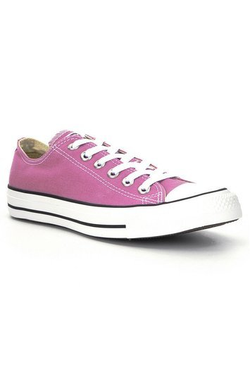 Tall Chuck Taylor All Star Ox At Long Tall Sally - predominant colour: pink; occasions: casual; material: fabric; heel height: flat; toe: round toe; style: trainers; finish: plain; pattern: plain; season: a/w 2016; wardrobe: highlight
