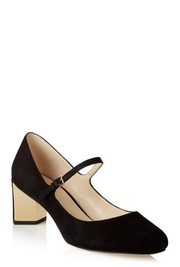 Tall Fadilla Mary Jane At Long Tall Sally - predominant colour: black; occasions: evening; material: leather; heel height: mid; heel: block; toe: round toe; style: mary janes; finish: plain; pattern: plain; season: a/w 2016; wardrobe: event
