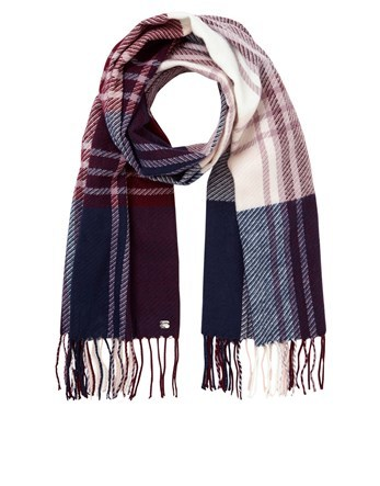 Woven Check Scarf - predominant colour: navy; occasions: casual, creative work; type of pattern: standard; style: regular; size: standard; material: fabric; pattern: checked/gingham; multicoloured: multicoloured; season: a/w 2016