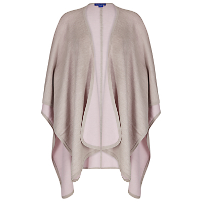 Reversible Cape - pattern: plain; length: below the bottom; neckline: collarless open; style: open front; predominant colour: blush; occasions: casual, creative work; fibres: nylon - mix; fit: loose; sleeve length: long sleeve; texture group: knits/crochet; pattern type: knitted - other; sleeve style: cape/poncho sleeve; wardrobe: basic; season: a/w 2016