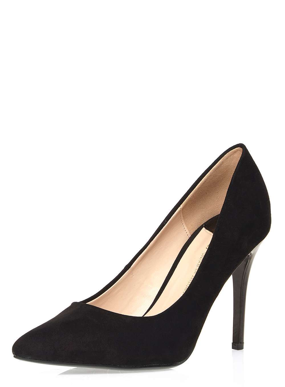 Womens Wide Fit Black 'wiggle' Court Shoes Black - predominant colour: black; occasions: evening, work, occasion; material: suede; heel height: high; heel: stiletto; toe: pointed toe; style: courts; finish: plain; pattern: plain; wardrobe: investment; season: a/w 2016