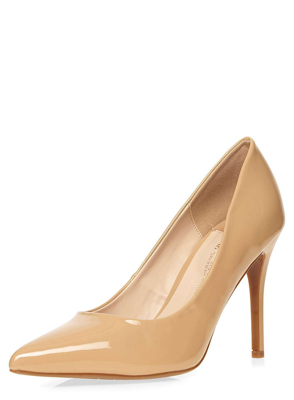 Womens Wide Fit Nude 'wiggle' Court Shoes Nude. - predominant colour: nude; occasions: evening, work, occasion; material: leather; heel height: high; heel: stiletto; toe: pointed toe; style: courts; finish: patent; pattern: plain; wardrobe: investment; season: a/w 2016