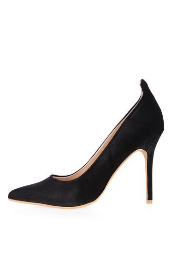 Gardenia Velvet Court Shoes - predominant colour: black; occasions: evening, occasion; material: fabric; heel height: high; heel: stiletto; toe: pointed toe; style: courts; finish: plain; pattern: plain; season: a/w 2016; wardrobe: event