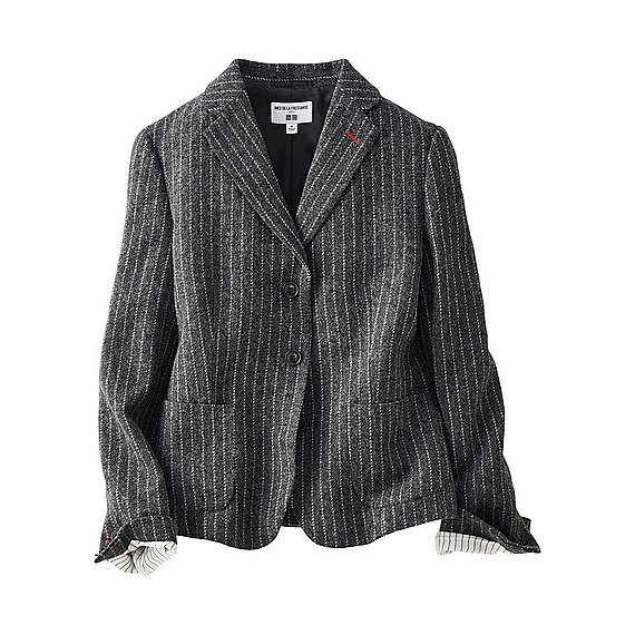 Women Ines Pinstripe Soft Tweed Jacket (Size Xs) Dark Gray - style: single breasted blazer; pattern: striped; collar: standard lapel/rever collar; predominant colour: charcoal; occasions: casual, creative work; length: standard; fit: tailored/fitted; fibres: wool - mix; sleeve length: long sleeve; sleeve style: standard; collar break: medium; pattern type: fabric; texture group: woven light midweight; season: a/w 2016; wardrobe: highlight