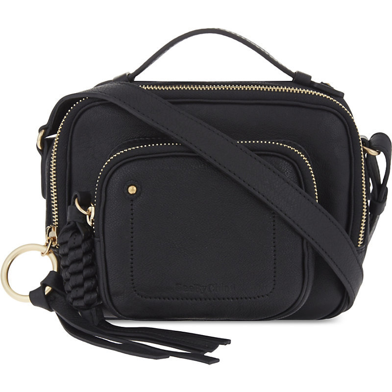 Leather Shoulder Bag, Women's, Black - predominant colour: black; occasions: casual, work, creative work; type of pattern: standard; style: shoulder; length: shoulder (tucks under arm); size: standard; material: leather; pattern: plain; finish: plain; wardrobe: investment; season: a/w 2016