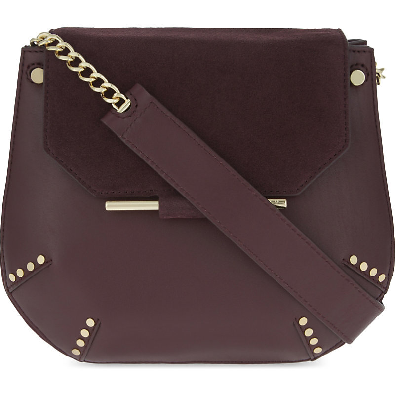 Bonnie Shoulder Bag, Women's, Red - predominant colour: true red; occasions: casual, creative work; type of pattern: standard; style: shoulder; length: shoulder (tucks under arm); size: standard; material: leather; pattern: plain; finish: plain; embellishment: chain/metal; season: a/w 2016; wardrobe: highlight