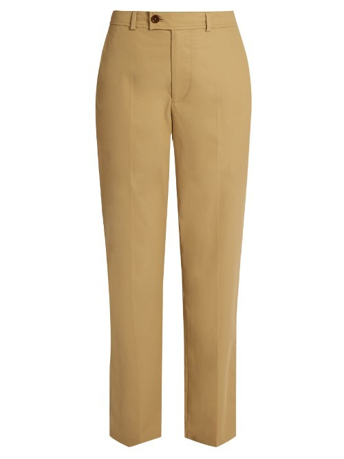 Licia Straight Leg Cotton Poplin Trousers - length: standard; pattern: plain; waist: high rise; predominant colour: camel; occasions: work, creative work; fibres: cotton - stretch; texture group: cotton feel fabrics; fit: straight leg; pattern type: fabric; style: standard; wardrobe: basic; season: a/w 2016