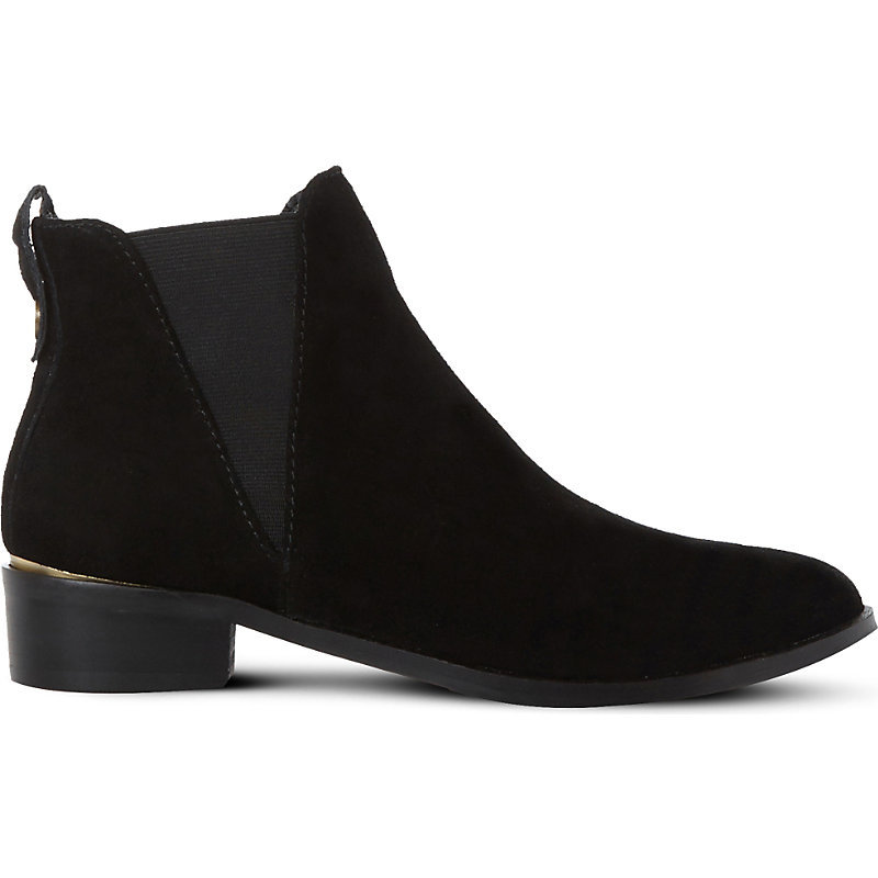 Nickell Suede Chelsea Boots, Women's, Eur 40 / 7 Uk Women, Black Suede - predominant colour: black; occasions: casual, creative work; material: suede; heel height: mid; heel: block; toe: round toe; boot length: ankle boot; finish: plain; pattern: plain; style: chelsea; season: a/w 2016