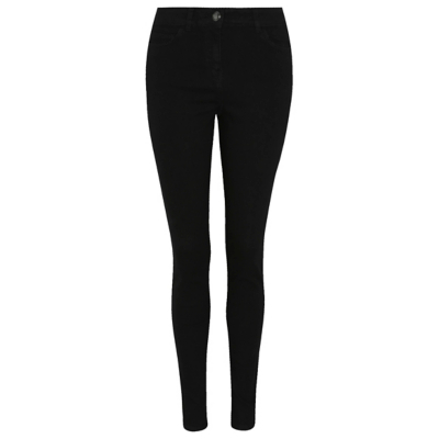 Skinny Fit Jeans Black - style: skinny leg; length: standard; pattern: plain; pocket detail: traditional 5 pocket; waist: mid/regular rise; predominant colour: black; occasions: casual; fibres: cotton - stretch; texture group: denim; pattern type: fabric; wardrobe: basic; season: a/w 2016