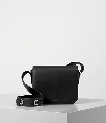 Ikuya Crossbody - predominant colour: black; occasions: casual, creative work; type of pattern: standard; style: shoulder; length: shoulder (tucks under arm); size: small; material: leather; pattern: plain; finish: plain; wardrobe: investment; season: a/w 2016