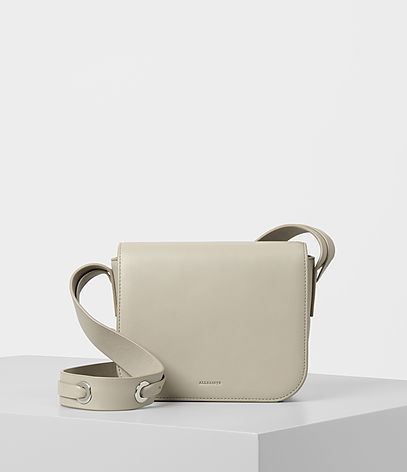 Ikuya Crossbody - predominant colour: stone; occasions: casual; type of pattern: standard; style: messenger; length: across body/long; size: small; material: leather; pattern: plain; finish: plain; wardrobe: basic; season: a/w 2016