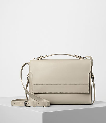 Paradise Shoulder Bag - predominant colour: stone; occasions: casual; type of pattern: standard; style: messenger; length: across body/long; size: small; material: leather; pattern: plain; finish: plain; wardrobe: basic; season: a/w 2016