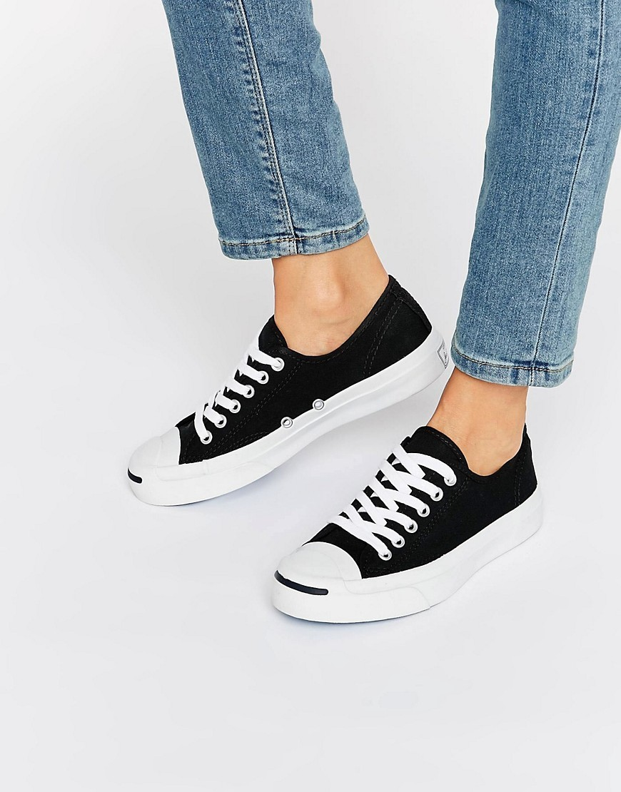 Jack Purcell Black Canvas Trainers Black - predominant colour: black; occasions: casual, creative work; material: fabric; heel height: flat; toe: round toe; style: trainers; finish: plain; pattern: plain; season: a/w 2016