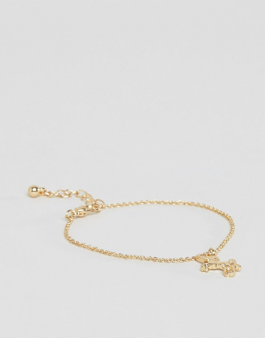 Unicorn Charm Bracelet Gold - predominant colour: gold; occasions: evening, occasion; style: chain; size: small/fine; material: chain/metal; finish: metallic; season: a/w 2016; wardrobe: event