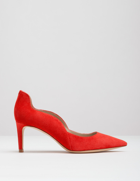 Wave Mid Court Beatnik Red Suede Women, Beatnik Red Suede - predominant colour: true red; occasions: evening; material: suede; heel height: high; heel: stiletto; toe: pointed toe; style: courts; finish: plain; pattern: plain; season: a/w 2016; wardrobe: event
