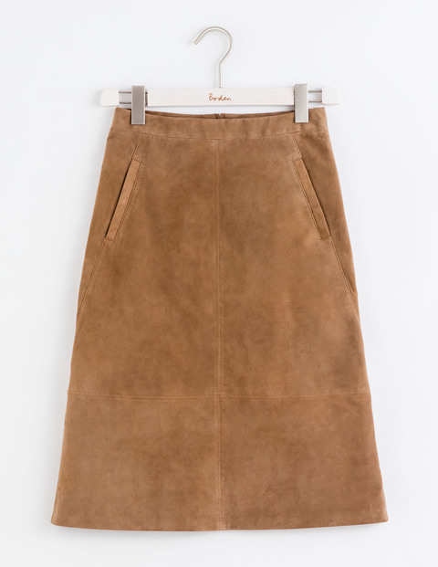 Marisa Suede Skirt Tan Women, Tan - pattern: plain; fit: loose/voluminous; waist: mid/regular rise; predominant colour: tan; occasions: casual, creative work; length: on the knee; style: a-line; fibres: leather - 100%; pattern type: fabric; texture group: suede; season: a/w 2016; wardrobe: highlight