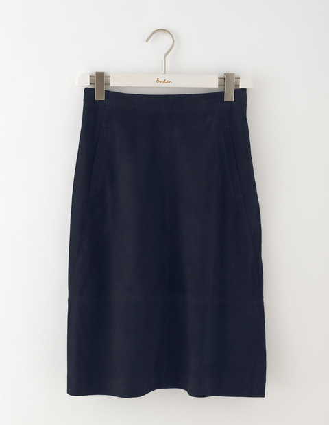 Marisa Suede Skirt Navy Women, Navy - pattern: plain; fit: loose/voluminous; waist: mid/regular rise; predominant colour: navy; occasions: casual, creative work; length: just above the knee; style: a-line; fibres: leather - 100%; pattern type: fabric; texture group: suede; season: a/w 2016; wardrobe: highlight