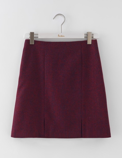 British Tweed Mini Red Herringbone Women, Red Herringbone - length: mid thigh; pattern: plain; fit: loose/voluminous; waist: mid/regular rise; predominant colour: burgundy; occasions: casual, creative work; style: a-line; fibres: wool - 100%; pattern type: fabric; texture group: woven light midweight; season: a/w 2016; wardrobe: highlight