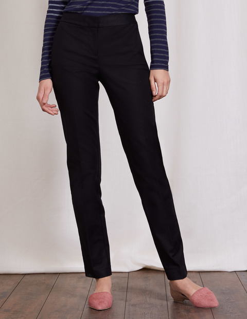 Bistro Trouser Black Women, Black - length: standard; pattern: plain; waist: high rise; predominant colour: black; occasions: work; fibres: cotton - mix; fit: straight leg; pattern type: fabric; texture group: woven light midweight; style: standard; wardrobe: basic; season: a/w 2016
