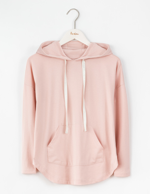 Off Duty Drapey Hoody Pink Pearl Women, Pink Pearl - pattern: plain; predominant colour: blush; occasions: casual; length: standard; fibres: cotton - mix; fit: loose; neckline: crew; sleeve length: long sleeve; sleeve style: standard; pattern type: fabric; texture group: jersey - stretchy/drapey; style: hoody; season: a/w 2016; wardrobe: highlight