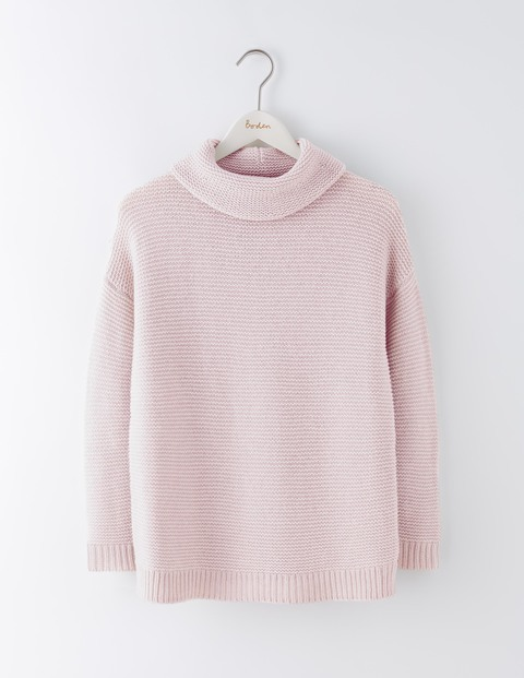 Rosemary Rollneck Jumper Pink Pearl Women, Pink Pearl - pattern: plain; neckline: roll neck; style: standard; predominant colour: blush; occasions: casual, work, creative work; length: standard; fibres: wool - mix; fit: standard fit; sleeve length: long sleeve; sleeve style: standard; texture group: knits/crochet; pattern type: knitted - fine stitch; season: a/w 2016