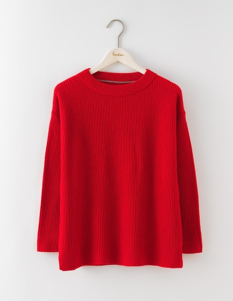 Diane Jumper Beatnik Red Women, Beatnik Red - pattern: plain; style: standard; predominant colour: true red; occasions: casual; length: standard; fibres: wool - mix; fit: standard fit; neckline: crew; sleeve length: long sleeve; sleeve style: standard; texture group: knits/crochet; pattern type: knitted - other; season: a/w 2016; wardrobe: highlight