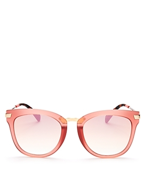 Adeline Wayfarer Sunglasses, 51mm - predominant colour: pink; occasions: casual, holiday; style: d frame; size: standard; material: plastic/rubber; pattern: plain; finish: plain; season: a/w 2016