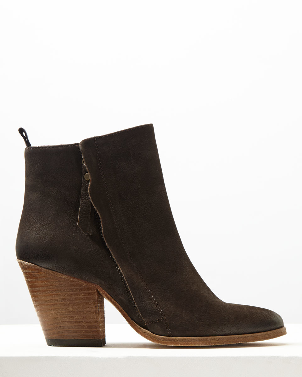 Adyson Side Zip Suede Boot - predominant colour: chocolate brown; occasions: casual; material: suede; heel height: mid; heel: block; toe: round toe; boot length: ankle boot; style: standard; finish: plain; pattern: plain; wardrobe: basic; season: a/w 2016